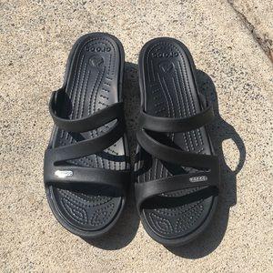 CROCS PATRICIA sandals BLACK w 10